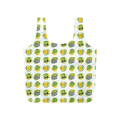 St Patrick S Day Background Symbols Full Print Recycle Bags (S)