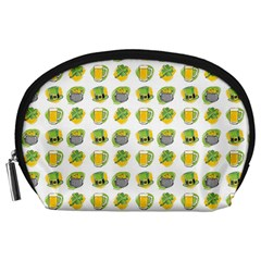 St Patrick S Day Background Symbols Accessory Pouches (Large)