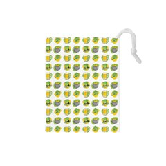St Patrick S Day Background Symbols Drawstring Pouches (Small)