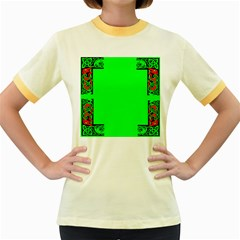 Decorative Corners Women s Fitted Ringer T-Shirts