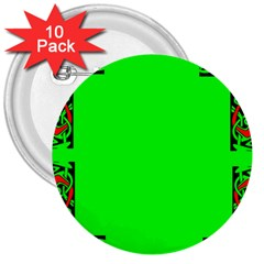 Decorative Corners 3  Buttons (10 Pack)