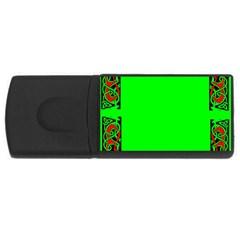 Decorative Corners USB Flash Drive Rectangular (4 GB)