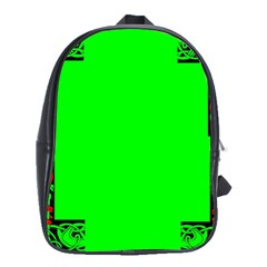 Decorative Corners School Bags(large)