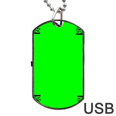 Decorative Corners Dog Tag Usb Flash (two Sides)