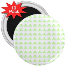Shamrock Irish St Patrick S Day 3  Magnets (10 Pack)