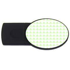 Shamrock Irish St Patrick S Day USB Flash Drive Oval (1 GB)