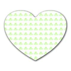 Shamrock Irish St Patrick S Day Heart Mousepads