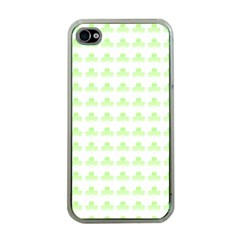 Shamrock Irish St Patrick S Day Apple iPhone 4 Case (Clear)