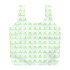 Shamrock Irish St Patrick S Day Full Print Recycle Bags (L)