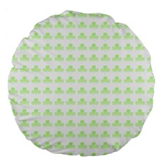 Shamrock Irish St Patrick S Day Large 18  Premium Flano Round Cushions