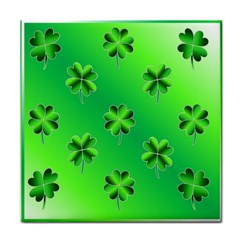 Shamrock Green Pattern Design Tile Coasters
