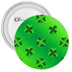 Shamrock Green Pattern Design 3  Buttons