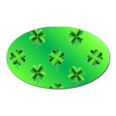Shamrock Green Pattern Design Oval Magnet