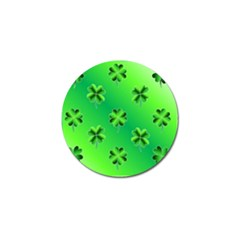 Shamrock Green Pattern Design Golf Ball Marker