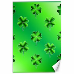 Shamrock Green Pattern Design Canvas 20  X 30