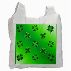 Shamrock Green Pattern Design Recycle Bag (One Side)