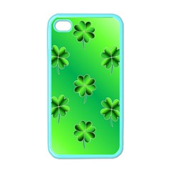 Shamrock Green Pattern Design Apple iPhone 4 Case (Color)