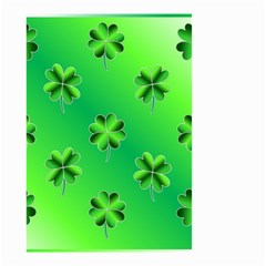 Shamrock Green Pattern Design Small Garden Flag (Two Sides)
