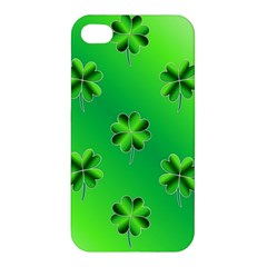 Shamrock Green Pattern Design Apple iPhone 4/4S Premium Hardshell Case