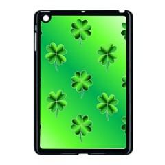 Shamrock Green Pattern Design Apple Ipad Mini Case (black)
