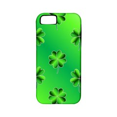 Shamrock Green Pattern Design Apple iPhone 5 Classic Hardshell Case (PC+Silicone)