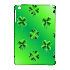 Shamrock Green Pattern Design Apple iPad Mini Hardshell Case (Compatible with Smart Cover)