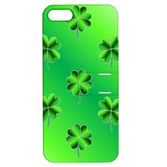 Shamrock Green Pattern Design Apple iPhone 5 Hardshell Case with Stand