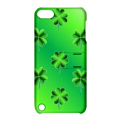 Shamrock Green Pattern Design Apple iPod Touch 5 Hardshell Case with Stand