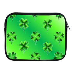 Shamrock Green Pattern Design Apple Ipad 2/3/4 Zipper Cases
