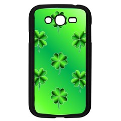 Shamrock Green Pattern Design Samsung Galaxy Grand DUOS I9082 Case (Black)