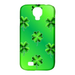Shamrock Green Pattern Design Samsung Galaxy S4 Classic Hardshell Case (PC+Silicone)
