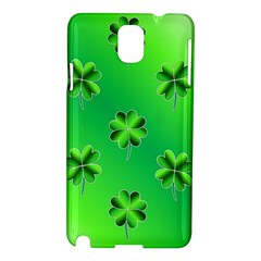Shamrock Green Pattern Design Samsung Galaxy Note 3 N9005 Hardshell Case