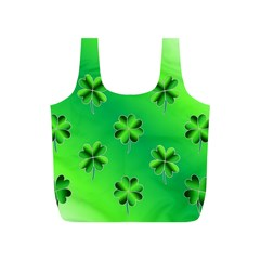Shamrock Green Pattern Design Full Print Recycle Bags (S)