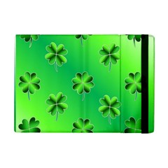 Shamrock Green Pattern Design iPad Mini 2 Flip Cases