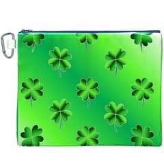 Shamrock Green Pattern Design Canvas Cosmetic Bag (xxxl)