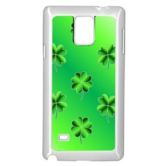 Shamrock Green Pattern Design Samsung Galaxy Note 4 Case (white)