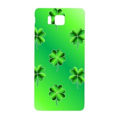 Shamrock Green Pattern Design Samsung Galaxy Alpha Hardshell Back Case