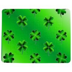 Shamrock Green Pattern Design Jigsaw Puzzle Photo Stand (Rectangular)