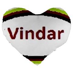 Vindar Large 19  Premium Heart Shape Cushions