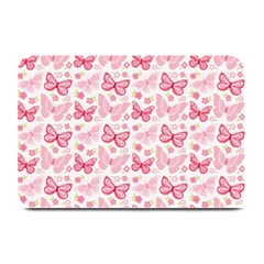 Cute Pink Flowers And Butterflies pattern  Plate Mats