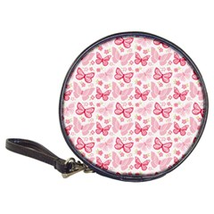 Cute Pink Flowers And Butterflies pattern  Classic 20-CD Wallets
