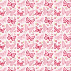 Cute Pink Flowers And Butterflies pattern  Magic Photo Cubes