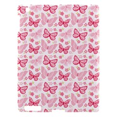 Cute Pink Flowers And Butterflies pattern  Apple iPad 3/4 Hardshell Case
