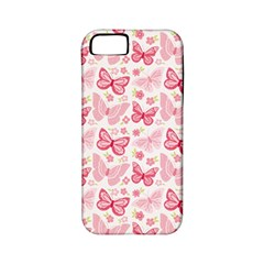 Cute Pink Flowers And Butterflies pattern  Apple iPhone 5 Classic Hardshell Case (PC+Silicone)