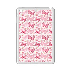 Cute Pink Flowers And Butterflies pattern  iPad Mini 2 Enamel Coated Cases