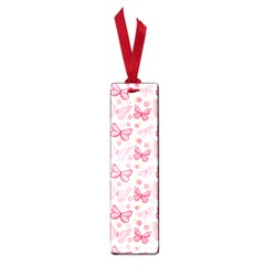 Cute Pink Flowers And Butterflies pattern  Small Book Marks