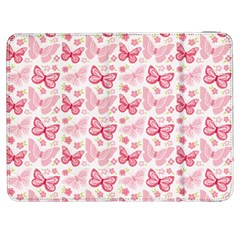 Cute Pink Flowers And Butterflies pattern  Samsung Galaxy Tab 7  P1000 Flip Case