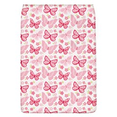 Cute Pink Flowers And Butterflies pattern  Flap Covers (L)