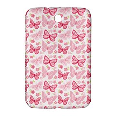 Cute Pink Flowers And Butterflies pattern  Samsung Galaxy Note 8.0 N5100 Hardshell Case