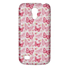 Cute Pink Flowers And Butterflies pattern  Galaxy S4 Mini